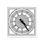 How to Draw a Big Ben Clock
