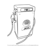 How to Draw a Gas Pump