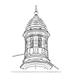 How to Draw Gateway of India - Turret