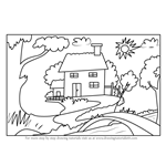 How to Draw Tree Cottage