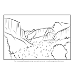 How to Draw Yosemite National Park California