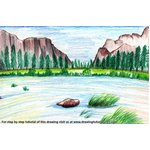 How to Draw Yosemite National Park