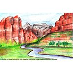 How to Draw Zion National Park River
