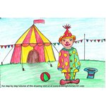 How to Draw a Clown with Circus for Kids