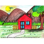 How to Draw an Easy House Scenery