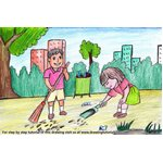 How to Draw Kids Cleaning Day Scene