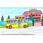 How to Draw School Bus Scene