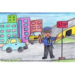 How to Draw Traffic Policeman at Traffic Signal Scene