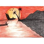 How to Draw a Beach Sunset