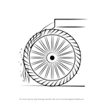 How to Draw a Water Wheel for Kids