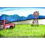 How to Draw Farm Windmill Scene