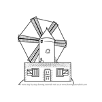 How to Draw a Farm Windmill