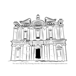 How to Draw Ad Deir Monastery