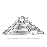 How to Draw El Castillo Chichen Itza