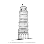 How to Draw Leaning Tower of Pisa