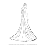 How to Draw a Bridal Gown