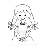 How to Draw a Girl with China Poblana Dress
