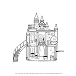 How to Draw Barbie Doll Castle