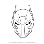 How to Draw Arkham Knight Helmet from Batman