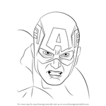 How to Draw Captain America Face
