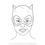 How to Draw Catwoman Face