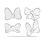 How to Draw Minnie Mouse Bow Tie