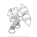 How to Draw Rosy the Rascal from Sonic the Hedgehog
