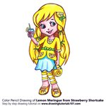 How to Draw Lemon Meringue from Strawberry Shortcake