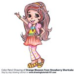 How to Draw Orange Blossom from Strawberry Shortcake