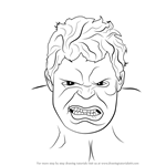 How to Draw The Hulk Face