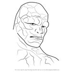 How to Draw The Thing Face