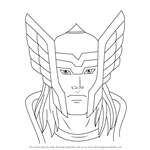 How to Draw Thor Face