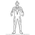 How to Draw Ultraman Cosmos