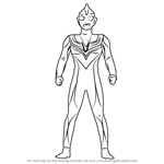 How to Draw Ultraman Tiga