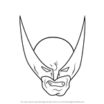 How to Draw Wolverine Head