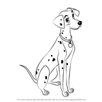 How to Draw Perdita from 101 Dalmations