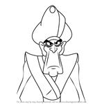 How to Draw Hakim from Aladdin