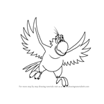 How to Draw Iago from Aladdin