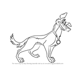 How to Draw Charlie B. Barkin from All Dogs Go to Heaven
