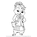 How to Draw Brittany from Alvin and the Chipmunks
