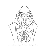 How to Draw Monsieur D'Arque from Beauty and the Beast