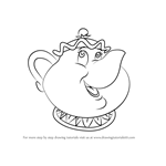 How to Draw Mrs. Potts from Beauty and the Beast