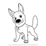 How to Draw Bolt the Dog