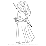 How to Draw Merida Elinor from Brave
