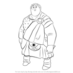 How to Draw Young MacGuffin from Brave