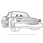How to Draw Chick Hicks from Cars 3