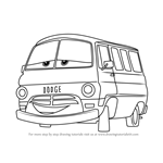 How to Draw Dusty Rust-eze from Cars 3