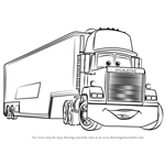 How to Draw Mack from Cars 3
