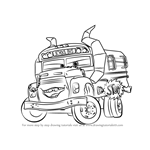 How to Draw Miss Fritter from Cars 3