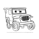 How to Draw Sarge from Cars 3